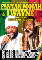 Fantan Mojah & I Wayne Tourposter