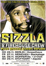 Sizzla Tourposter 2009