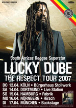 Lucky Dube Tourposter 2007