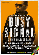 Busy Signal Tourposter 2014
