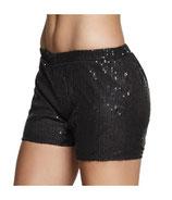 Hotpants Zwart Paillet