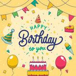 Wenskaart Happy Birthday Cake