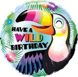 Folieballon Birthday Exotic