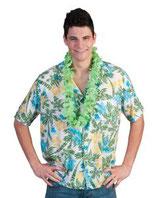 Hawaihemd Groen/wit