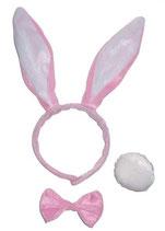 Diadeem Bunny Roze Set