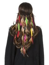 Haarband Hippie met Pluimpjes