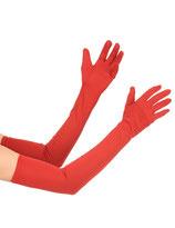 Rode Handschoen Lang