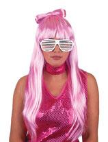 Pink Gaga Pruik