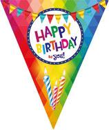 Vlaglijn Happy birthday
