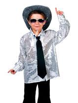 Glitter Shirt Kids Zilver