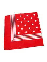 Zakdoek rood/witte bollen