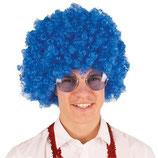 Blauwe Pruik Krullen