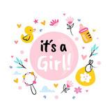 Wenskaart It's a Girl