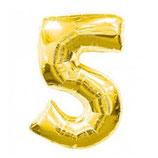 Folieballon Cijfer 5 Goud