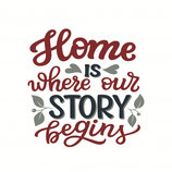 Wenskaart Home is Our Story
