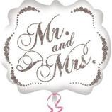 Folieballon Huwelijk Mr. and Mrs