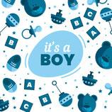 Wenskaart It's a Boy