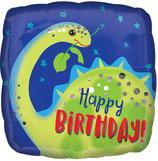 Folieballon Birthday Dino