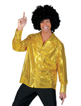 Disco Glitterhemd Goud