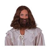 Pastoor / Jezus  Baard en Pruik