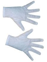 Wit Handschoen Kort