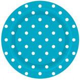 Bord Blauw Dots