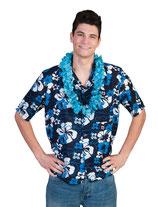 Hawaihemd Blauw/wit