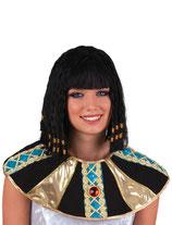 Cleopatra Pruik met Pareltjes
