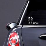 """FRENCHIE FAMILY"" Autoaufkleber"