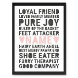 """""""Loyal friend..."""" Poster im Rahmen"""
