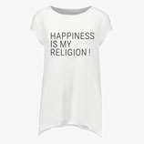 """HAPPINESS IS MY RELIGION"" Damen Shirt"