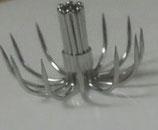 Pack de 50 coronas y 25 palitos de corona cesta curva 0,70 mm