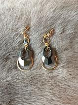 Boucles d'oreilles ELIZABETH GRISE