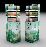 ÖPSO Lufterfrischer - Display für den Wiederverkauf