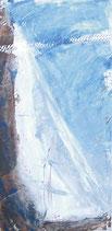 Bild Segler, Segel mit blauem Himmel, 30 x 60 cm