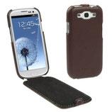 Etui en cuir véritable Pour Galaxy S3 i9300 i9305 (Marron)