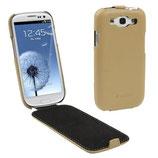 Etui en cuir véritable Pour Galaxy S3 i9300 i9305 (Beige)