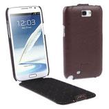 Etui en cuir véritable Pour Galaxy Note 2 N7100 N7105 (Marron)