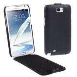 Etui en cuir véritable Pour Galaxy Note 2 N7100 N7105 (Noir)
