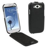 Etui en cuir véritable Pour Galaxy S3 i9300 i9305 (Noir)