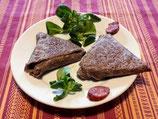 *Samoussa au chorizo sur son lit de chou Kale & béchamel au blé noir (pièce)