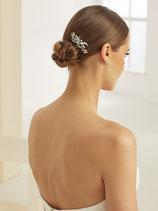 Haarkamm mit Kristallen und Perlen