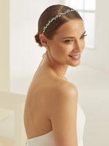Haarband mit Blüten, Kristallen und Perlen