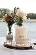 Artikel-Nr. 101: Tekla Sand Hochzeitskerze klein
