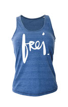 "Tanktop ""frei"" in denim"