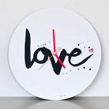 """Wanduhr """"love"""""""