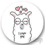 Sticker Lama roze