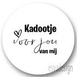 Sticker Kadootje jou  mij