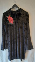 Robe fluide velours noir ROMEO pour JULIETTE Taille 42