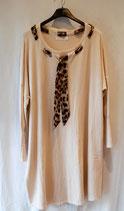 Robe pull beige cravate léopard Taille unique